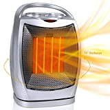 GiveBest Portable Electric Space Heater with Thermostat, 1500W/750W Safe & Quiet Ceramic Heater Fan ETL Certified, Heat Up 200 sq. Ft for Office Room Desk Indoor Use