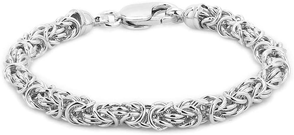 Don't miss the campaign Vanbelle Sterling Silver Jewelry Byzantine Brace Chain Hand-Made Oakland Mall