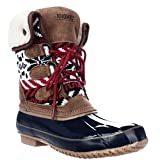 Khombu Womens Jenna Closed Toe Ankle Cold Weather Boots, Navy, Size 6.0