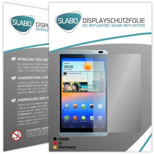 Slabo 2 x Bildschirmschutzfolie Huawei MediaPad M1 8.0 Bildschirmschutz Schutzfolie Folie No Reflexion|Keine Reflektion MATT-Entspiegelnd Made IN Germany