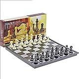 Juego de juegos de mesa de entretenimiento Juego de ajedrez de viaje magnético con juego de ajedrez de ajedrez plegable conjunto de juguetes educativos para el juego familiar del estudio Juego de tabl