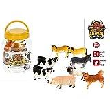 Hogar y Mas Animales Bote con 8 Accesorios Infantiles, Figuras de Animales Granja. Juguetes para niños 15x20 cm