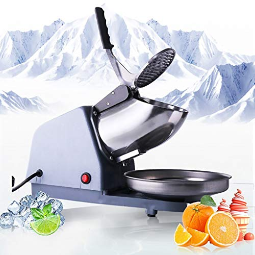 Check Out This Electric Ice Crusher, Commercial Stainless Steel Double Blade Ice Shaver Machine Snow...