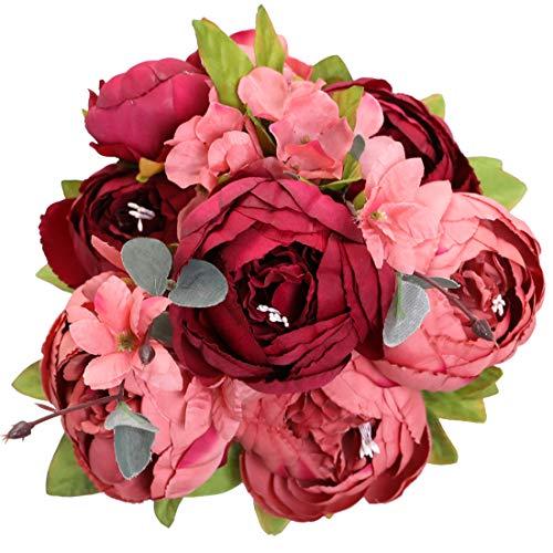 Veryhome Künstliche Blume Pfingstrose...