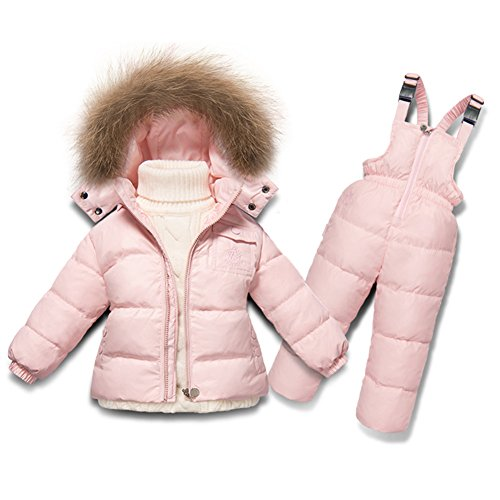 XIRUI Chaqueta de esquí para niño Chaqueta niña Abrigos niño Pantalones de Nieve Ropa de Invierno Set