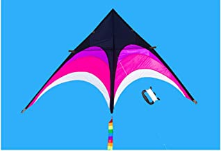 BuilLLin Best Delta Kite, Easy Fly for Kids and Beginners, Single Line w/Tail Ribbons, Stunning Colors, Large, Meticulously Designed and Tested + Guarantee + Bonuses (Pink)