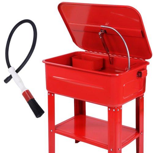 TIMBERTECH Teilewaschgerät 80 Liter - mit 26W Pumpe, 12L/min, inkl. Pinsel, Einlegewaschplatte, Ablageboden, max. Tragkraft 150 kg - Teilereiniger, Waschgerät, Werkstatt Waschtisch, Teilewäscher