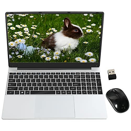 PC Portatile 15.6 Pollici FHD 1920 x 1080 GOODTEL B3 Notebook con 8 GB RAM 256 GB SSD Windows 10 Pro 64 Bits, WiFi 2.4G e 5G, SD TF 512GB Bluetooth HDMI, Tastiera(QWERTY) con Mouse, Argento