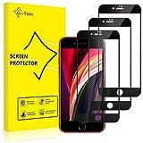 GiiYoon Protector de Pantalla [3 Piezas], Alta Definicion Vidrio Templado HD Protector para iPhone SE 2020/iPhone 7/8(4.7'),[Cristal Templado 3D] [Sin Burbujas] [Cobertura Completa] [9H Dureza]