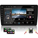 CAMECHO Upgrade 10.1 inch Android 10.0 Car Stereo D-Player with Bluetooth 8 Core [2G+32G] 1080P Split Touch Screen FM/AM/RDS Radio Receiver Support WiFi Connect IOS & Android Phone Link +Backup Camera