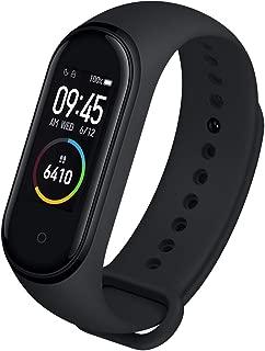 Relógio Inteligente Mi Band 4 Original Xiaomi Smartwatch Pulseira Versão Internacional Global Monitorização de Frequência Cardíaca 0,95 AMOLED Rastreador de Fitness Tela Colorida Prova D'agua até 50m para Android e iOS, Preto
