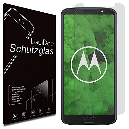 LouiDee [1er] Motorola Moto G6 Plus - Premium Schutzglas [Ultra Clear Klar ] 9H Panzerglas Schutzfolie Glasfolie Display Schutz Folie