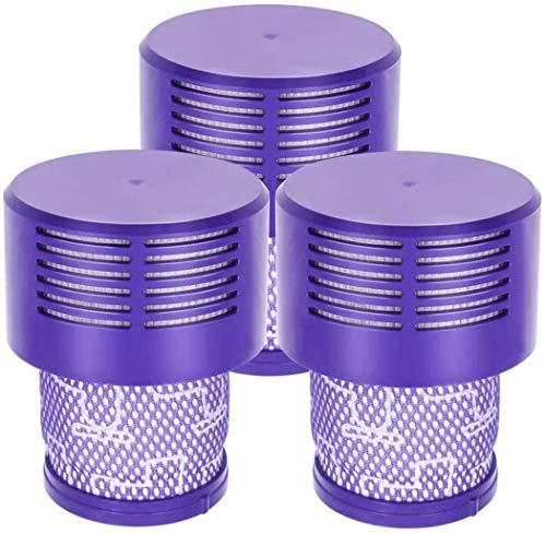 NLRHH Bürstenfilter 3 Pack Ersatz V10 Filter für V10 SV12, Teilenummer 969082-01, waschbar und wiederverwendbar