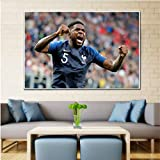 yhnjikl Leinwanddruck Benzema Kante Umtiti Ribery Poster
