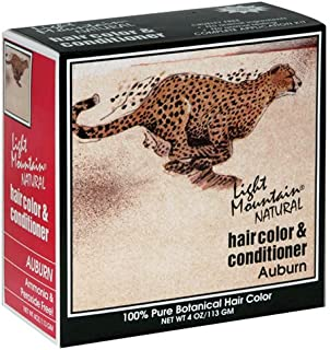 Light Mountain Natural Hair Color & Conditioner, Auburn, 4 oz (113 g) (Pack of 3)