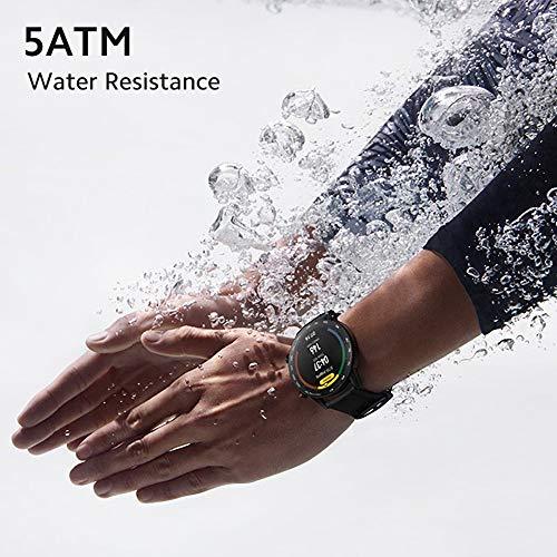 "HONOR Smartwatch Magic Watch 2 42mm (hasta 2 Semanas de Batería, Pantalla Táctil AMOLED de 1.2"", GPS, 15 Modos Deportivos) para Hombre Mujer, Ágata Negro miniatura"