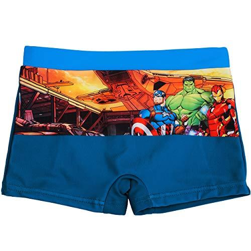 alles-meine.de GmbH Badehose / Badeshorts - Avengers - Größe 6 bis 7 Jahre - Gr. 122 bis 128 - für Jungen Kinder Badepants - Boxershorts Shorts mit Bein - Pants - Badeshort - Ass..