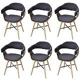 Festnight 6er-Set Bugholz-Esszimmerstühle Essstuhl Küchenstühle Stuhl Set Esszimmer Sitzgruppe...