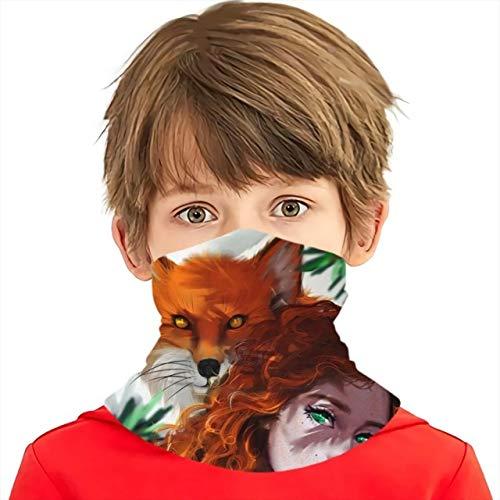 K-ONE 3D-Druck Fox Haarschal Benutzerdefinierte Jungen/Mädchen Motorrad Schal Fox Mask Damen/Herren Schal