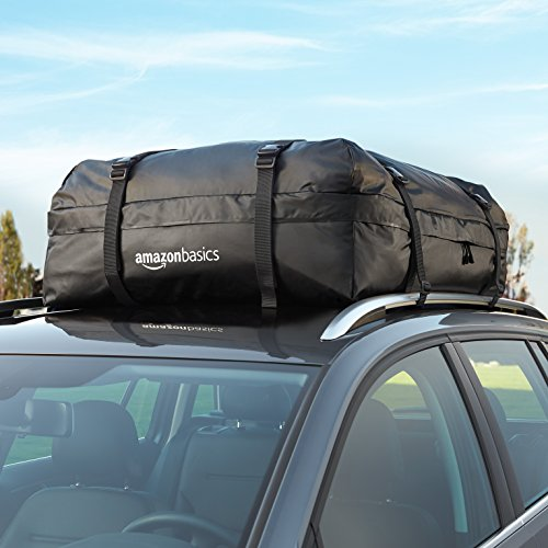 Amazon Basics ZH1705156 Rooftop Cargo Carrier Bag, Black, 15 cu. ft.