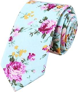 JUNGEN Corbata Estampada Hombre Corbata Floral Corbata Estrecha Corbata de algod/ón Corbata Elegante para Citas Festival