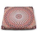 Houity Bunte Ethno-Muster, arabeske Vektor-Hintergrund, 100% Polyester, quadratisches Kissen mit...