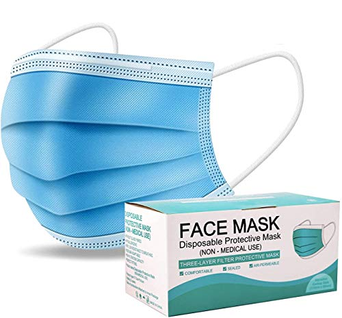 50 PCS Disposable Face Masks Protection 3 Ply Pollution Health Dust Filter Safety Mask Face Protective PPE Mouth Nose