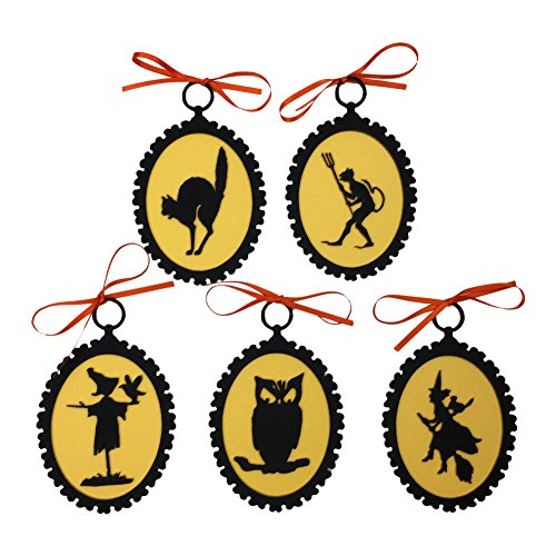 Madison Bay Company Halloween Laser Cut Silhouette Ornaments (Bewitched)