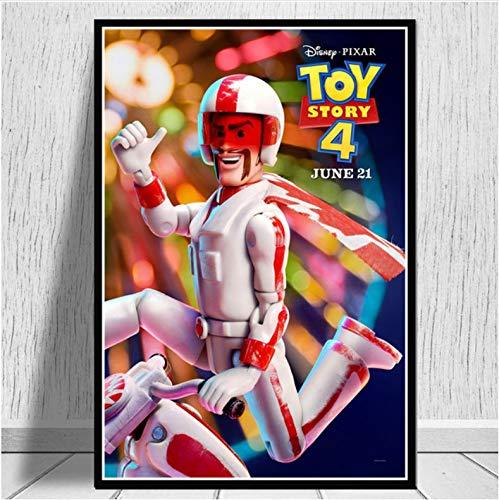 mohanshop Pintura Sin Marco Arte De Pared Toy Story 4 2019 Película Película Cartel Imagen Impresiones Lienzo Pintura para Habitación Decoración del Hogar A363 (50X70Cm) Sin Marco