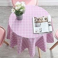 テーブルクロス 円形 直径100cm ビニール 撥水 テーブルカバー 北欧 おしゃれ PVC チェック柄 食卓カバー 汚れ防止 耐熱 雰囲気 新築お祝い 贈り物
