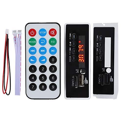 Tonysa 12V Bluetooth 4.2 MP3 Decoder Board, MP3 Wireless Bluetooth Lautsprecher Lossless Audio Decoder Board-Modul, Unterstützung APP und APK, LED-Anzeige, Remote Decoder Board-Modul