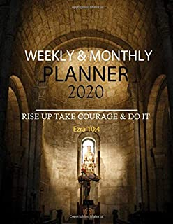 Weekly & Monthly Planner 2020: Happy Christian Life Planner and Organizer Large 8.5 x 11, Calendar Schedule + Agenda 12 Month with To Do List