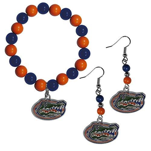 NCAA Siskiyou Sports Womens Florida Gators Fan Bead Earrings and Bracelet Set One Size Team Color