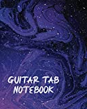 Guitar Tab Notebook: Blue Space Nebula Themed Composition Book for Musicians