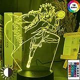 3D Illusion Lampe Led Veilleuse Japonais Manga Naruto Minato Namikaze Atmosphère Pour Enfants Pépinière Décor Changement De Couleur Meilleur Cadeau De Vacances D'Anniversaire Pour Les Enfants