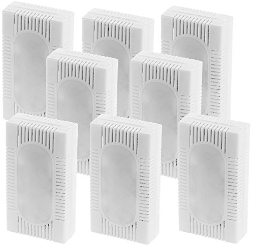 PEARL Kühlschrank Deo: 8er-Set 3in1-Kühlschrank-Frisch gegen Gerüche, Feuchtigkeit, Schimmel (Kühlschrank-Entfeuchter)