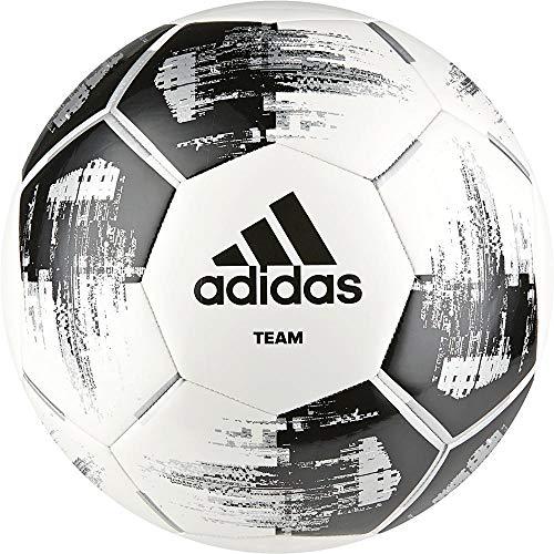 Adidas Team Glider Pallone Da Calcio, Unisex – Adulto, White/Black/Silvmt, 4