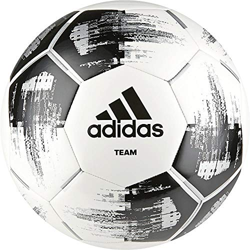 adidas Team Glider Soccer Ball, Hombre, White/Black/Silver Met, 5