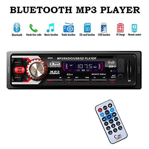 Boomboost autoradio FM dans Dash Car Radio Lecteur MP3 stéréo MP3 Bluetooth/AUX/USB/SD Mains Libres