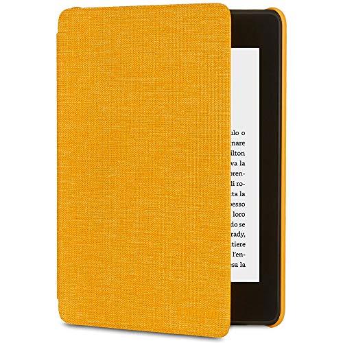 Custodia Amazon in tessuto che protegge dall'acqua per Kindle Paperwhite (10ª generazione - modello 2018), Giallo