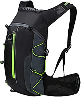 Rjj 10L Bicycle Backpack Portable Wearable and Durable Bicycle Bag Nylon Bicycle Bag Bicycle Bag Bicycle Hiking Outdoor Sports Exquisite (Color : Green)