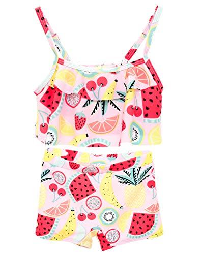 kavkas Baby Girl Swimsuit Cute One Piece Bathing Suit with Sun Protection Ruffles Swimwear, 4T