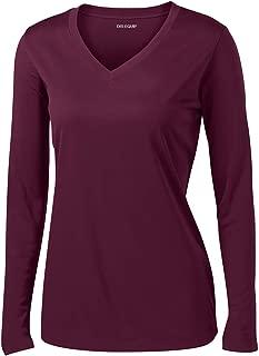 Joe's USA Ladies Long Sleeve Moisture Wicking Athletic Shirts Sizes XS-4XL