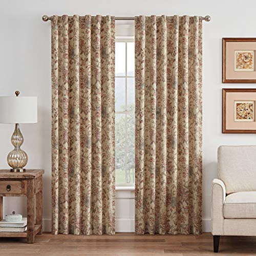 WAVERLY Lucchese Rod Pocket Single Panel Privacy Window Treatment Living Room, 52
