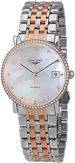Longines - Elegant Collection - L4.809.5.88.7 - Oro rosa de 18 quilates MOP Diamond Dial Diamond Bisel Automático Mujeres