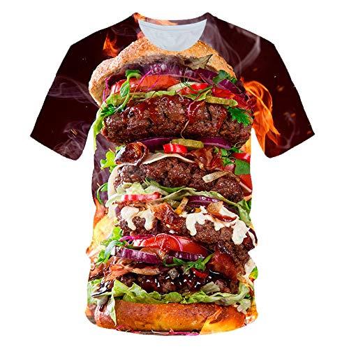 xbowo-Sweatshirt Tops T-Shirts & Hemden Für Herrenbig Mac Hamburger 3D-Gedruckte Casual Sports Kurzarm-Bild_XXXL