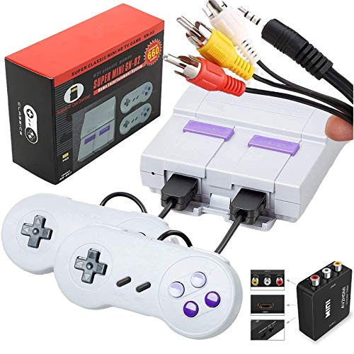 Retro Game Console for TV,Classic Mini NES Console with Built-in 660 Games and 2 Controllers,AV and HDMI Output NES Classic Edition Retro Games for Kids and Adults as Birthday Gift.