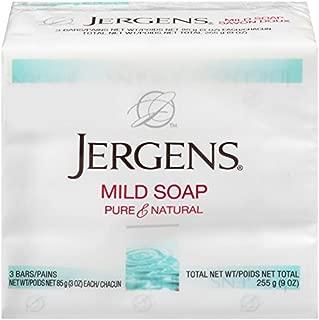 Jergens Mild Soap, Facial,3 Bars/3 Ounce Each