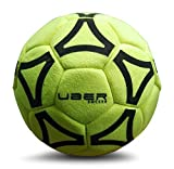 UBER Soccer Felt Indoor Soccer Ball, Size 5 ,Yellow