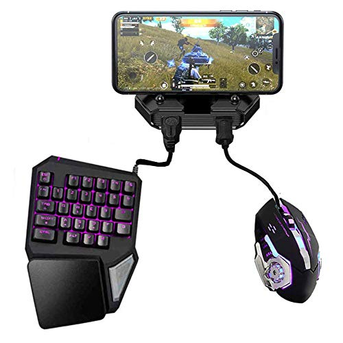 RUIHUA Battledock Converter Bluetooth 5.0 Gamepad with Keyboard Mouse,PUBG Mobile Android PUBG Controller, Mobile Controller Gaming for iOS Ipad to PC